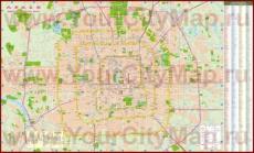 Подробная карта города Пекин с достопримечательностями