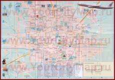 Туристическая карта Пекина с отелями и достопримечательностями
