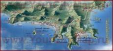 Карта отелей Саньи с достопримечательностями