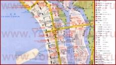 Туристическая карта города Санья с отелями