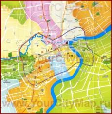 Карта достопримечательностей Шанхая