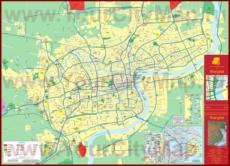 Подробная карта города Шанхай