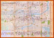 Туристическая карта Шанхая с отелями и достопримечательностями