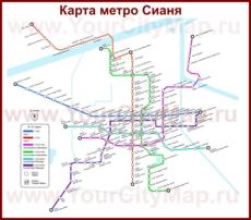 Карта метро Сианя