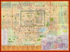 Туристическая карта Сианя с отелями и магазинами