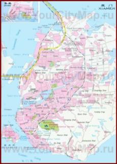 Подробная карта города Сямынь