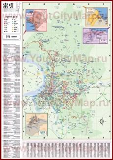 Подробная туристическая карта города Тайбэй с отелями, достопримечательностями, ресторанами и магазинами