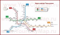 Карта метро Тяньцзиня