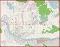 Подробная карта города Даугавпилс с улицами