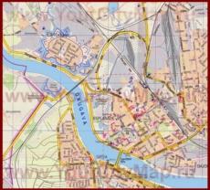 Туристическая карта Даугавпилса с отелями и достопримечательностями