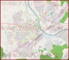 Подробная карта города Елгава