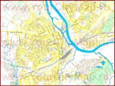 Туристическая карта Елгавы