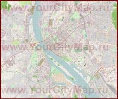Подробная карта города Рига