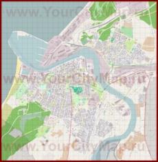 Подробная карта города Вентспилс