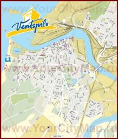 Туристическая карта Вентспилса