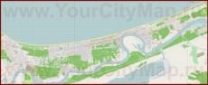Подробная карта города Юрмала