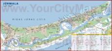 Туристическая карта Юрмалы с отелями и достопримечательностями