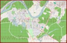 Подробная карта города Друскининкай