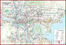 Карта маршрутов транспорта Каунаса