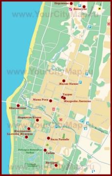 Карта отелей Паланги