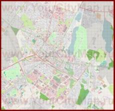 Подробная карта города Шауляй