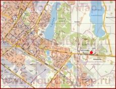 Туристическая карта Шауляя с отелями и достопримечательностями