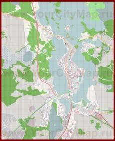 Подробная карта города Тракай