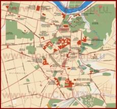 Карта старого города Вильнюса на русском языке