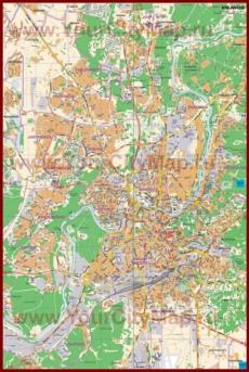 Карта Вильнюса с отелями и достопримечательностями