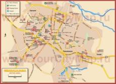 Карта города Гвадалахара с окрестностями