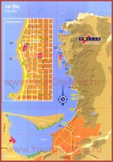 Туристическая карта города Ла-Пас