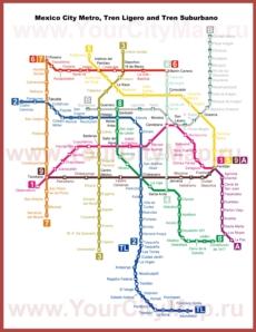 Карта метро Мехико