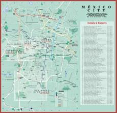Карта отелей Мехико