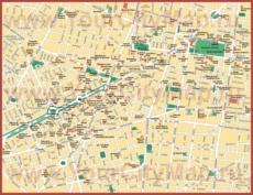 Подробная карта города Мехико