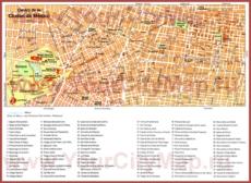 Туристическая карта Мехико с достопримечательностями