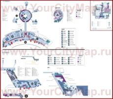Подробная схема карта аэропорта Абу-Даби
