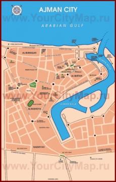 Карта города Аджман
