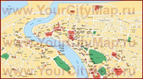 Карта центра Дубая