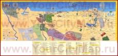 Подробная туристическая карта города Дубай с отелями и магазинами