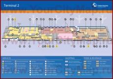 Схема - Карта аэропорта Дубая (Терминал 2)