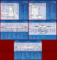 Схема - Карта аэропорта Дубая (Терминал 3)