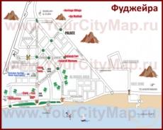 Карта города Фуджейра
