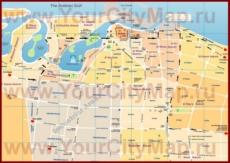 Подробная карта города Шарджа