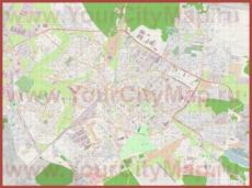 Подробная карта города Белосток с торговыми центрами
