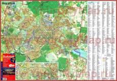 Туристическая карта Белостока с улицами, отелями и достопримечательностями
