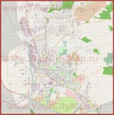 Подробная карта города Эльблонг