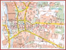 Туристическая карта Эльблонга с достопримечательностями