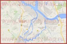 Карта Гданьска на русском языке