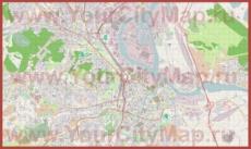 Подробная карта города Гданьск с магазинами