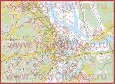Туристическая карта Гданьска с достопримечательностями